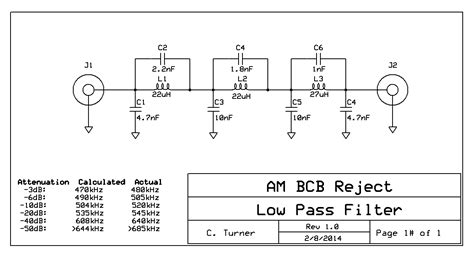 high pass filter ham radio ka7oei s low pass filter for mf lf 600 meter reception