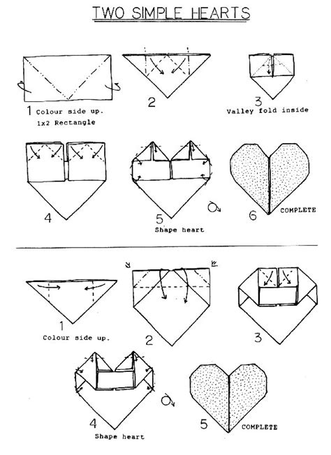 How To Make A Paper Beating - francis ow s origami diagrams 2 simple hearts
