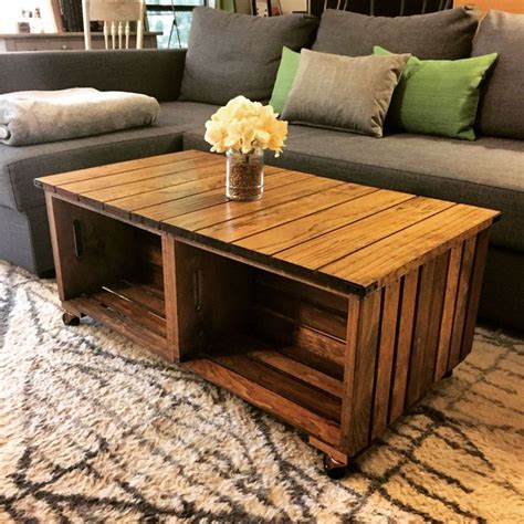 wood crate coffee 25 best ideas about crate coffee tables on