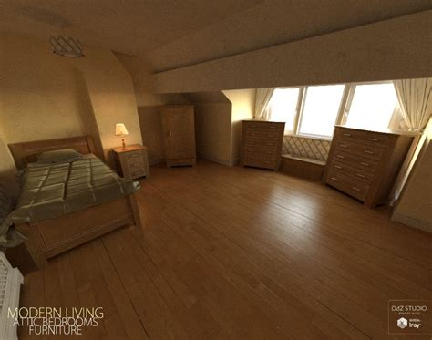 Download Daz Studio 3 For Free Daz 3d Modern Living Attic Bedroom Furniture
