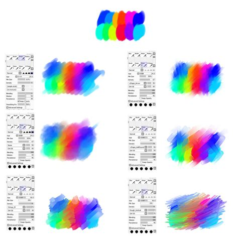 waterbrush settings for paint tool sai by ryky on deviantart