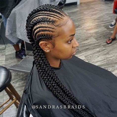 cornrow hairstyles for black women with part in the middle these cornrows are so clean sandrasbraids houstonbraider