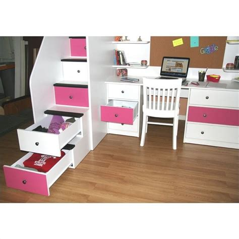 berg loft bed berg furniture utica lofts twin loft bed with 5 drawer