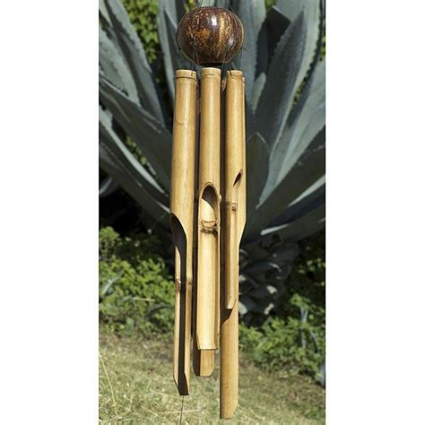 handmade bamboo natural  large wind chime indonesia  shipping  orders