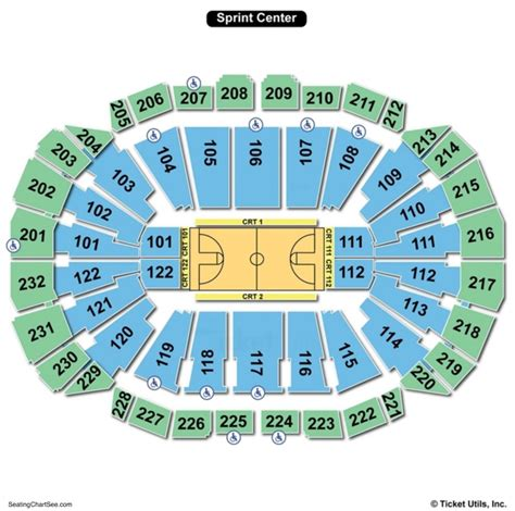 sprint center concert seating capacity sprint center seating chart seating charts and tickets