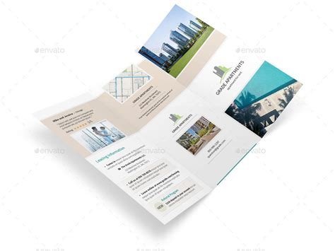 apartment real estate trifold brochure by mike pantone