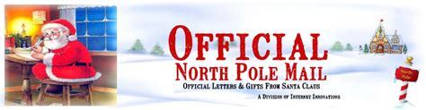 Official Pole Letterhead official pole mail personalized letters from santa