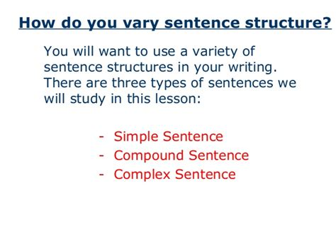 sentence template varied sentence structure exles images