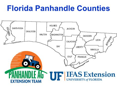 map of the panhandle of florida map of panhandle and west panhandle farm facts from the 2012 census of agriculture
