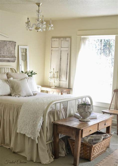 charming bedroom  antique bed frame chic bedroom