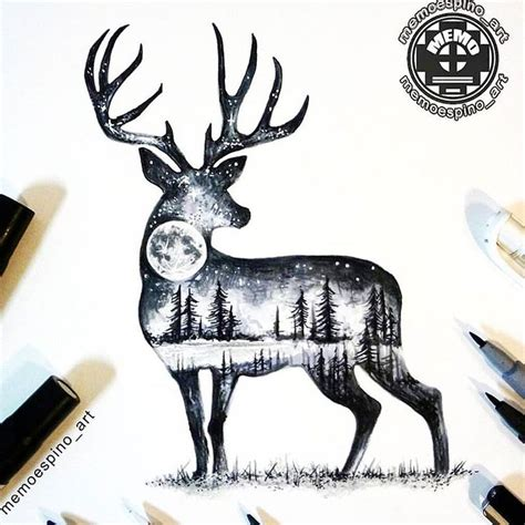 full body deer tattoo 25 best ideas about deer tattoo on pinterest deer