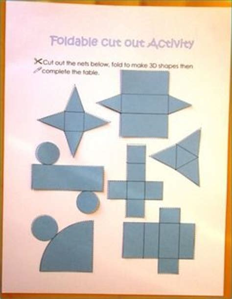 3d shapes worksheets sorting activities nets posters