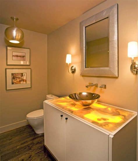Onyx Countertops Bathroom powder bath with underlit onyx countertop