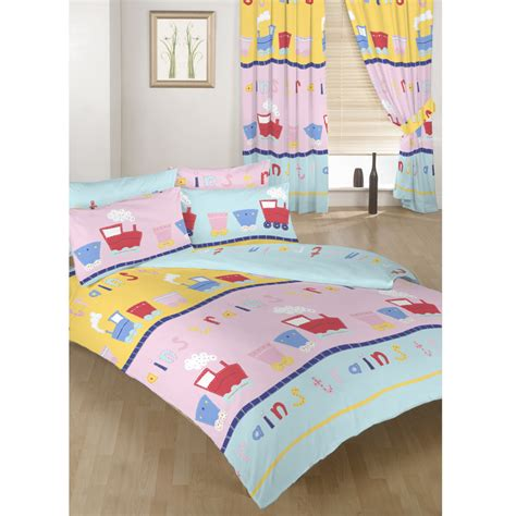 kids bedroom curtains and bedding trains childrens bedding kids toddler cot cotbed duvet