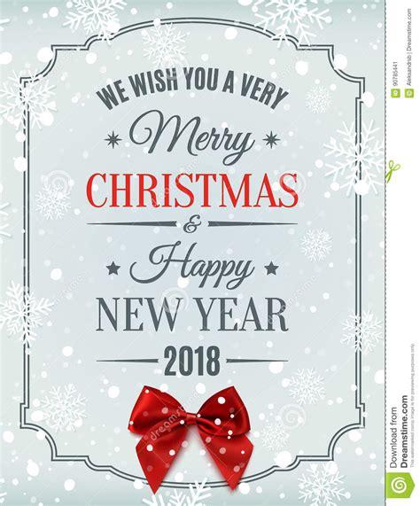 clipart buon anno carta buon anno e di buon natale 2018 illustrazione