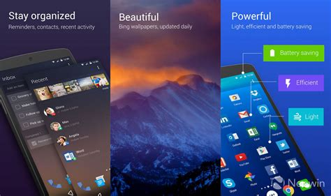 Microsoft Android microsoft garage launches arrow launcher 2 3 includes