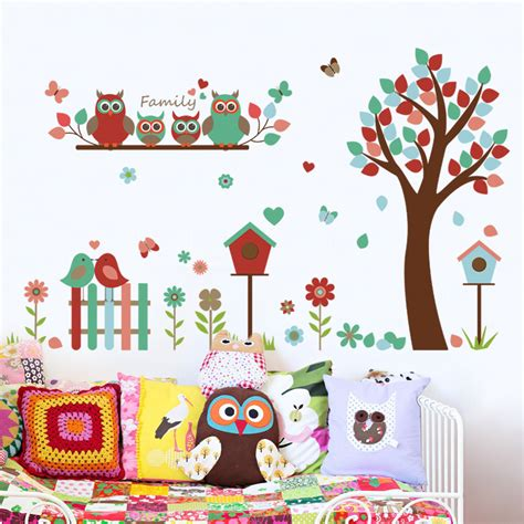 family wall sticker family owl tree wall stickers wall stickers for