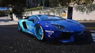 Lamborghini For Liberty Walk Blue Galaxy For Lamborghini Aventador Gta5