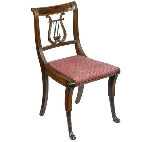 Furniture Sales Nyc by Mahogany Classical Lyre Side Chair Duncan Phyfe New York