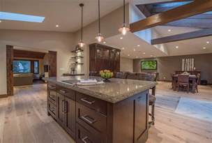 Open Floor Plans With Vaulted Ceilings by Open Concept Floor Plan With Vaulted Ceilings Rustic