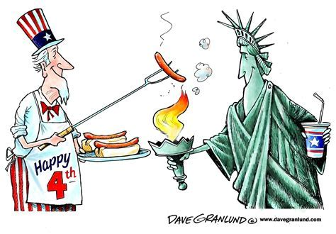 Granlund cartoon: 4th of July cookout   News   Bedford Now