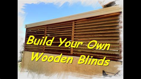 wooden blinds youtube