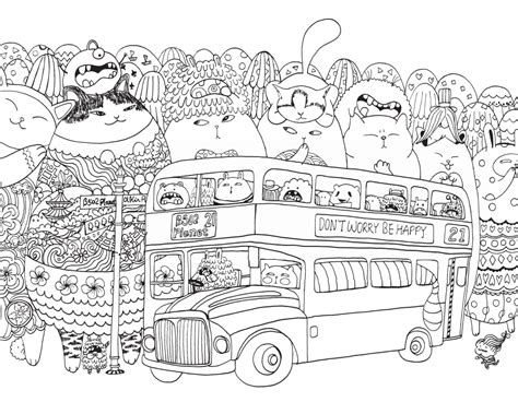 millions of cats coloring pages a million cats fabulous felines to colour free pattern