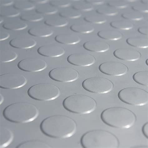 """Coin Grip (Metallic)"" Rolled PVC Flooring"