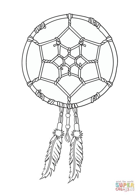 dreamcatcher template catcher american coloring sheets coloring pages