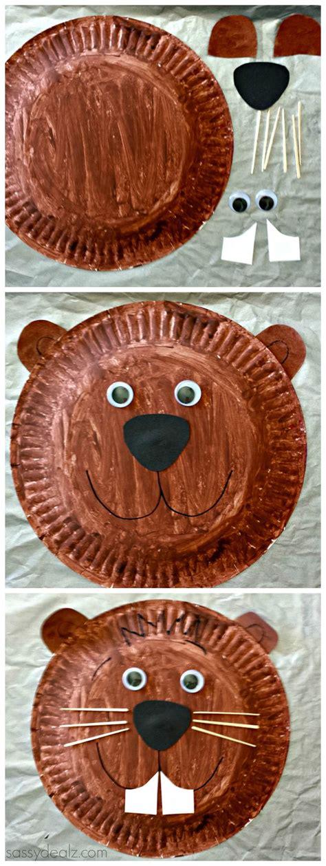groundhog crafts for groundhog paper plate craft for groundhog day for