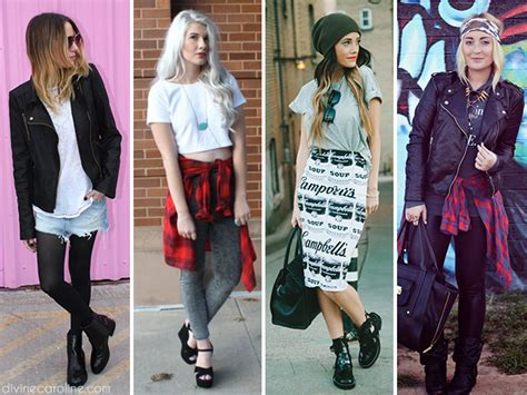 Caroline By My Trend Fashion trend to try grunge more