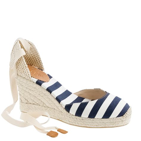 Butterfly Striped Wedges Import j crew sardinia wedge espadrilles in blue lyst