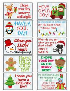 6 best images of christmas lunch notes printable free