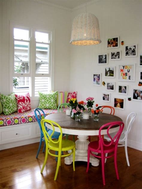 Colourful Dining Table And Chairs Multi Colored Dining Chairs A Playful Touch For The D 233 Cor