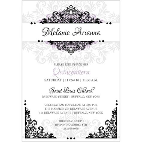 invitations templates for quinceaneras in spanish quinceanera invitations wording in spanish quinceanera