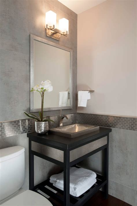 modern powder room sinks modern powder room with hardwood floors powder room
