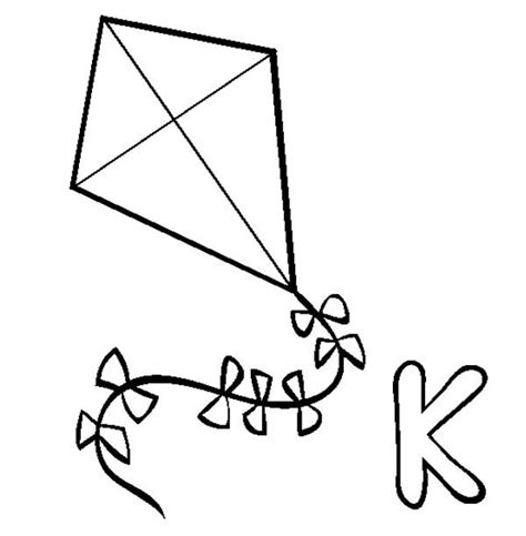 large kite coloring page kite fall craftskid artcolour