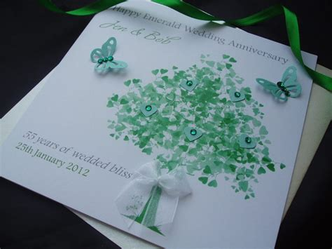 Emerald Wedding Anniversary Card Uk by Emerald Tree Wedding Anniversary Card Handmade