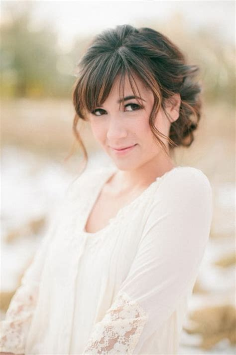 Wedding Hairstyles For Bangs by Bridal Hairstyles With Bangs