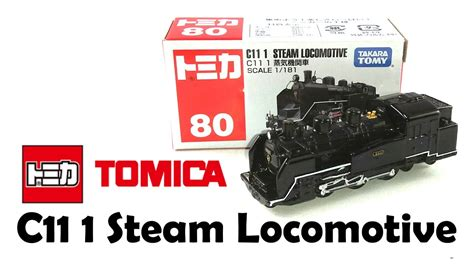 Tomica 80 Steam Locomotive tomica 80 c11 1 steam locomotive diecast unboxing