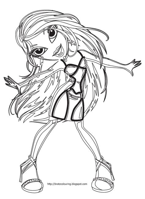 bratz coloring pages bratz coloring pages free print and color bratz coloring