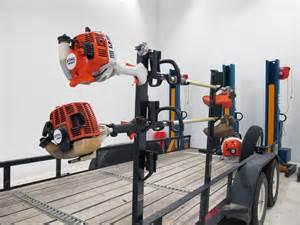 lockable trimmer rack for utility trailers rackem trailer