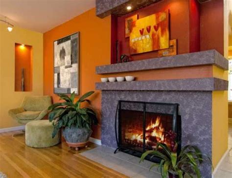 modern interior design ideas celebrating bright orange color shades home decor ideas