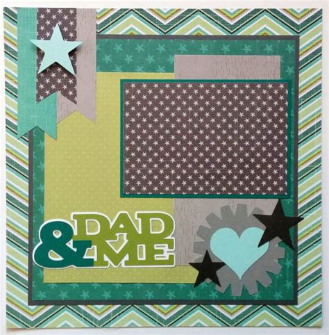 father s day scrapbook layout craft premade scrapbook layout dad dad premade scrapbook by