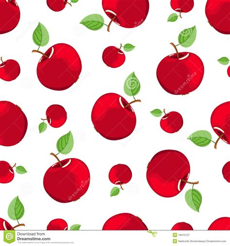 pattern apple background seamless red apple pattern stock vector illustration of