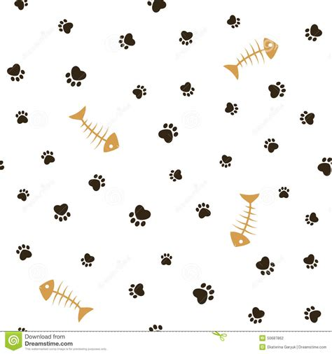 cat themed wallpaper cat theme seamless background stock vector image 50687862