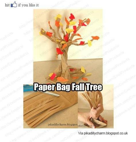 Paper Bag Tree Craft - pin by rosado amanda on crafts november