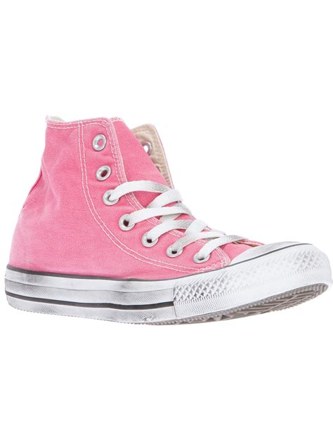 Converse All Pink converse all hi top in pink lyst