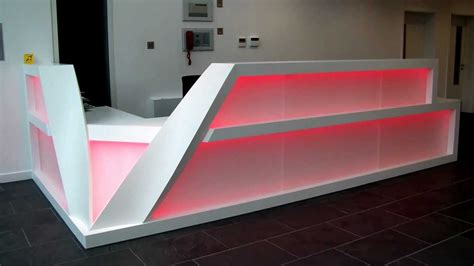 Led Reception Desk Led Backlit Reception Desk