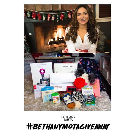 Bethany Mota Holiday Giveaway - bethany mota bethanymota twitter